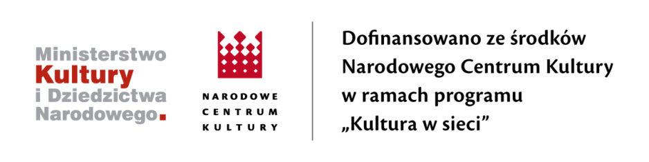 """Grafika promocyjna programu dotacyjnego Narodowego Centrum Kultury """"Kultura w sieci"""""""